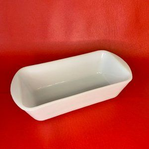 Vintage Glasbake MIlk Glass Loaf Pan | 1.5 qt